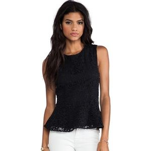 Joke black lace peplum tank in XS